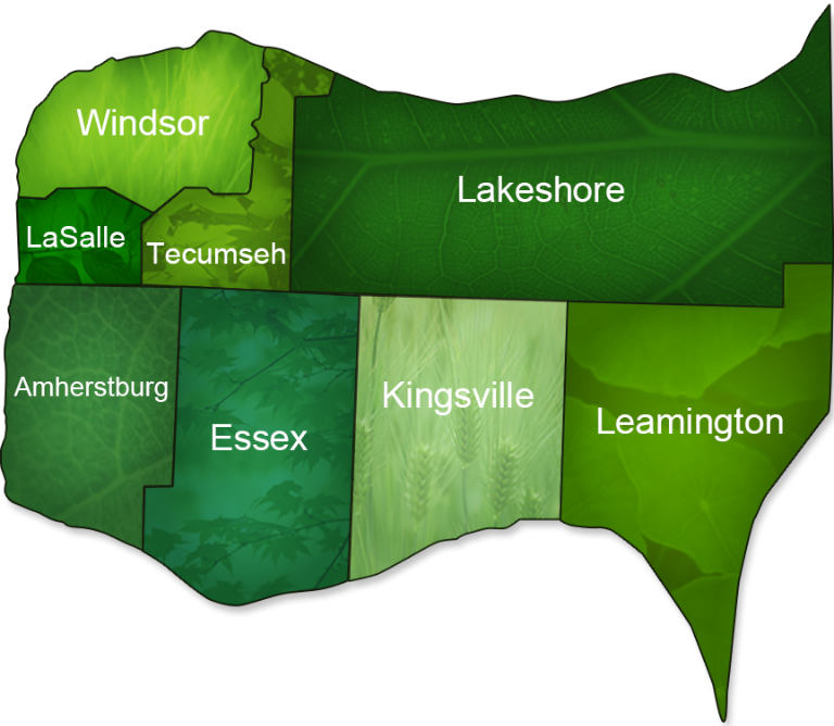 Royal lePage Binder - Windosr, LaSalle, Amherstburg, Essex, Tecumseh, Lakeshore, Kingsville and Leamington community map