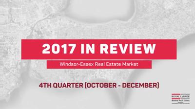 Q4 2017 Windsor-Essex County Real Estate Market Statistics