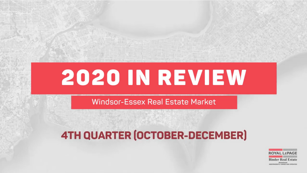 Q4 2020 Real Estate Statistics for Windsor and Essex County