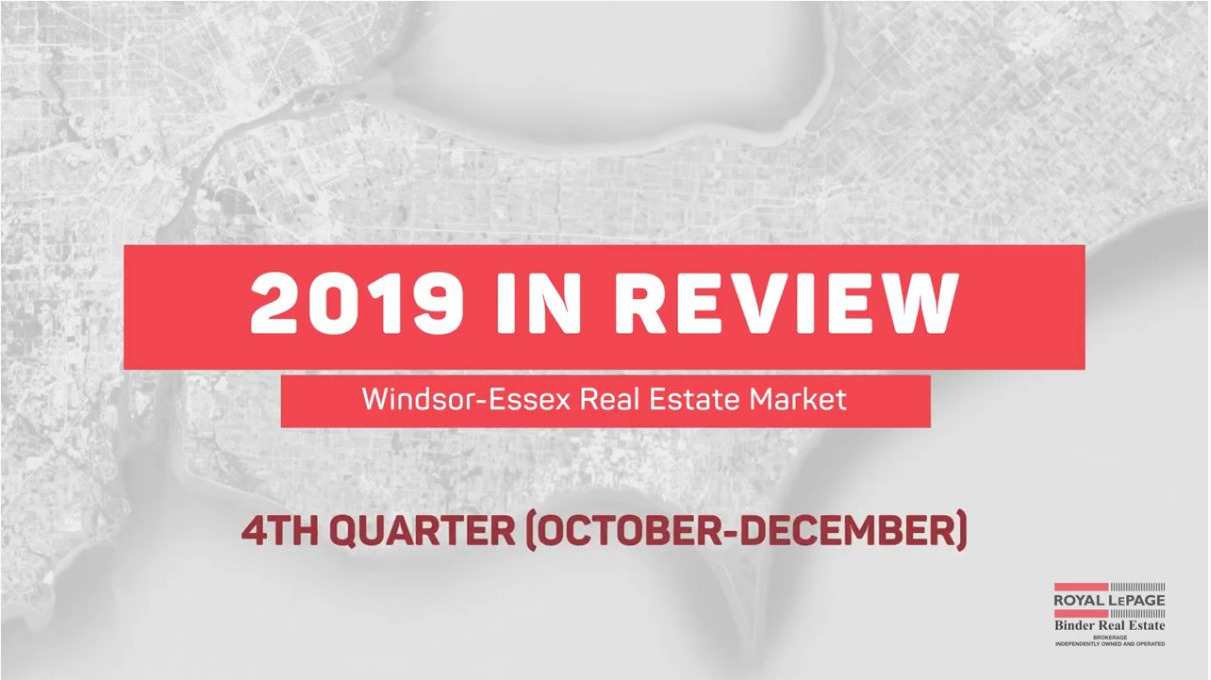Q4 2019 Windsor-Essex Real Estate Statistics