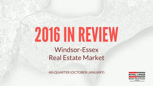 Q4 2016 Windsor-Essex County Real Estate Market Statistics