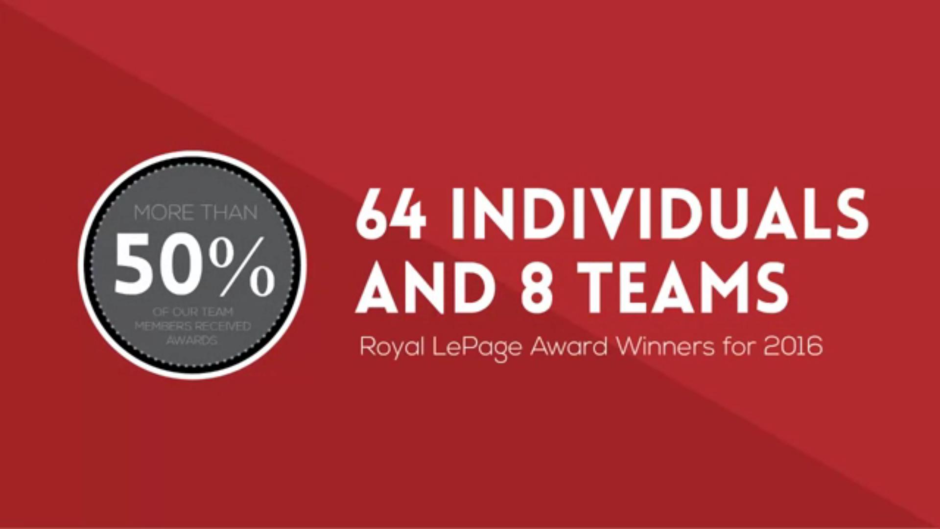 Royal LePage Binder 2016 Award Winners