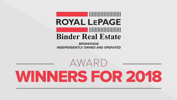 Congratulations to the Royal LePage Binder 2018 Award Winners!