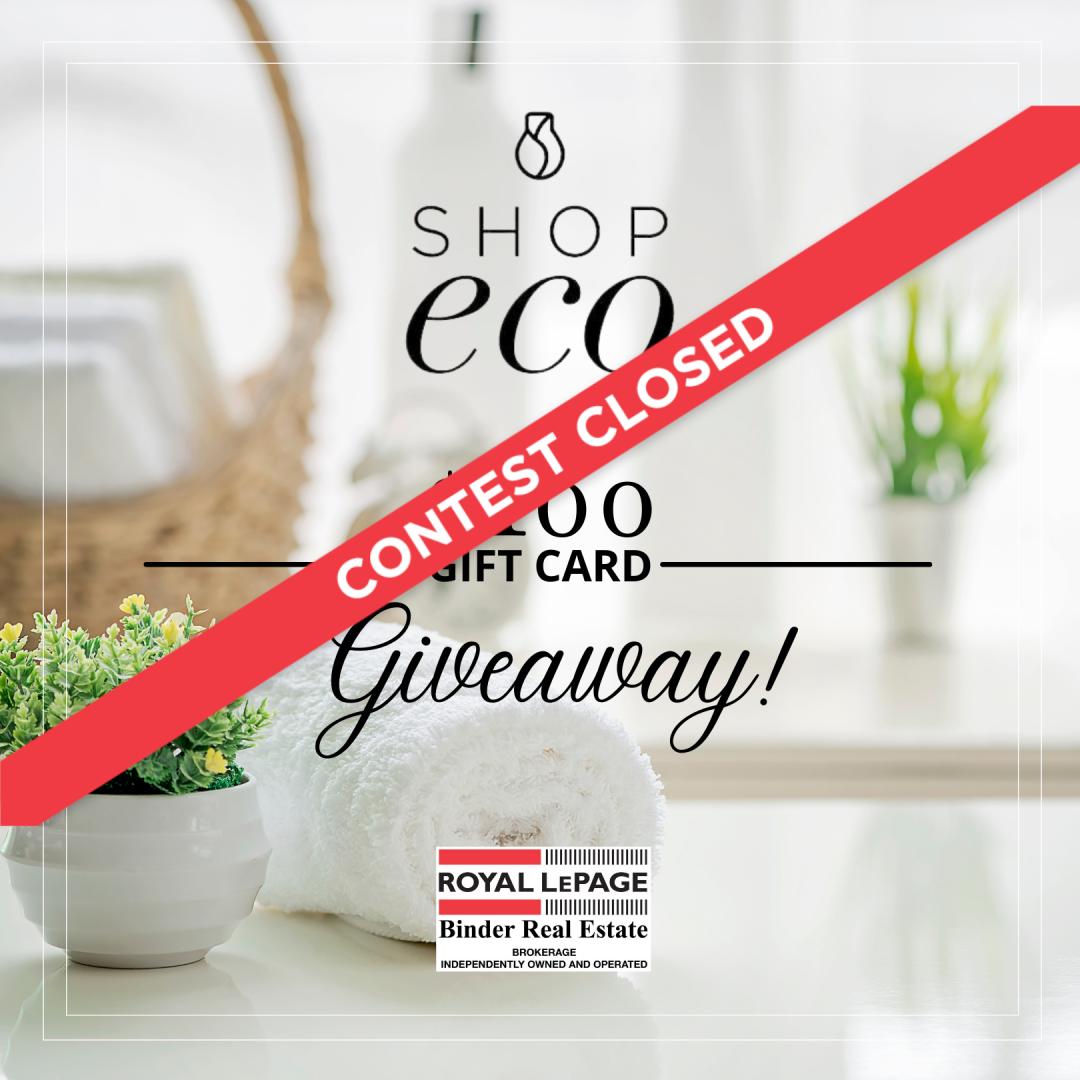 Shop Eco $100 Giftcard Giveaway!