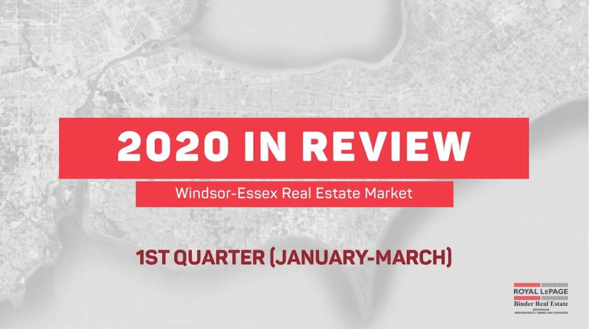 Q1 2020 Windsor-Essex Real Estate Statistics