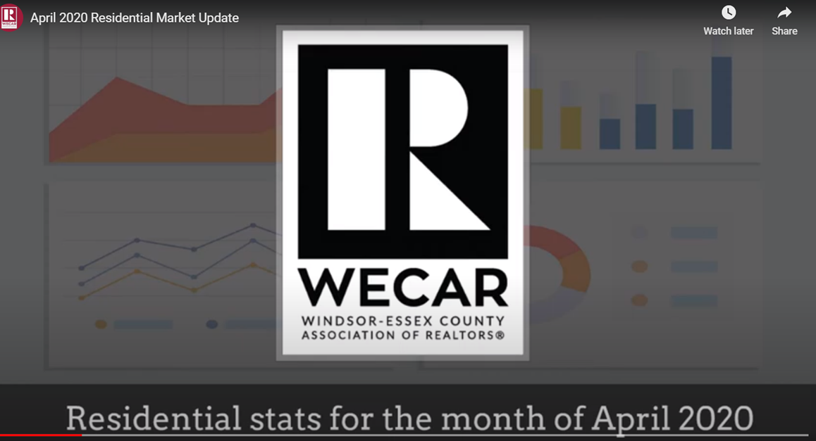 WECAR April 2020  Residential Market Update