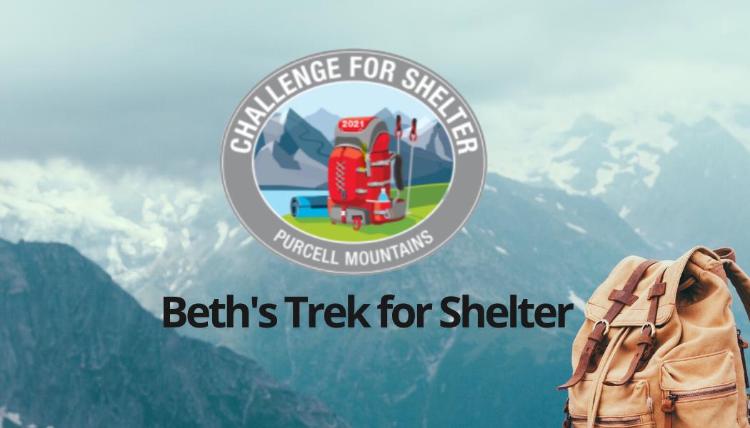 Beth's Trek for Shelter