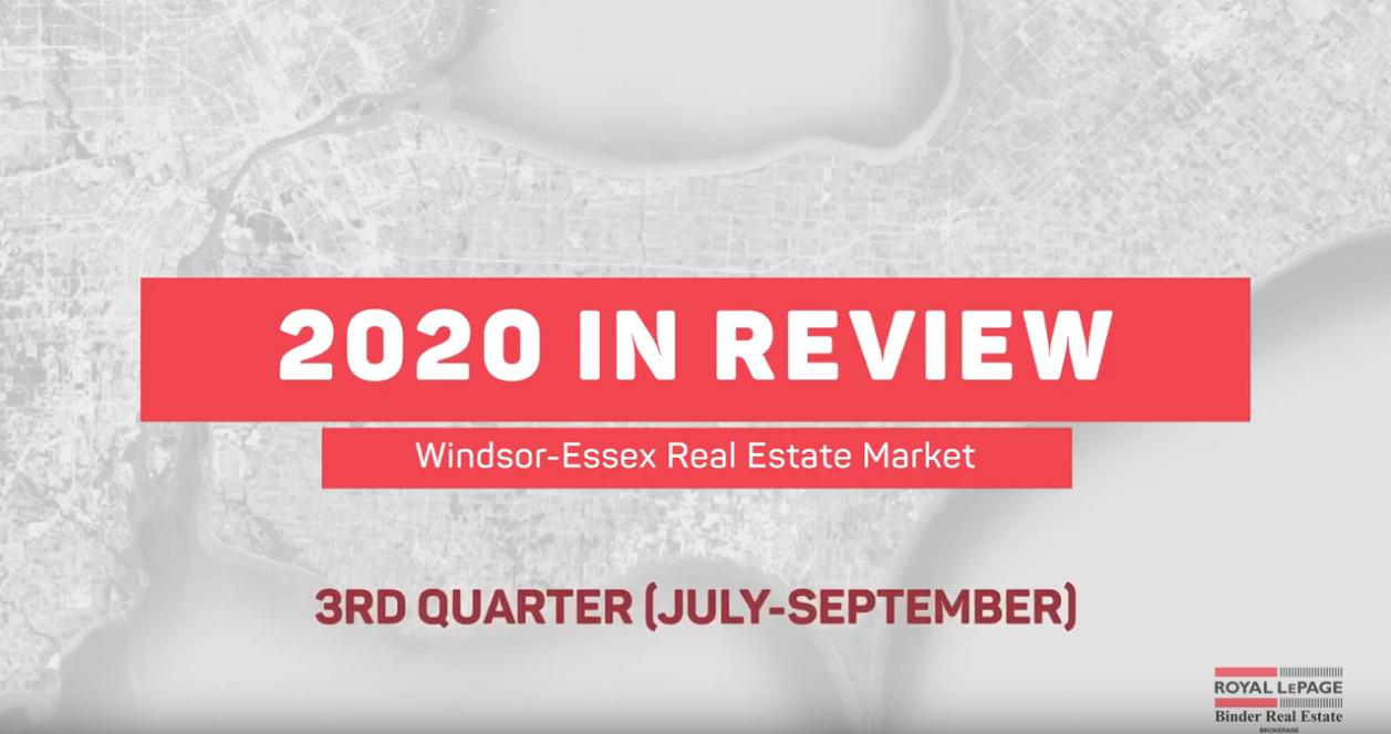 Q3 2020 Real Estate Statistics for Windsor-Essex