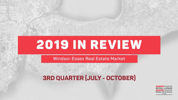 Q3 2019 Windsor-Essex Real Estate Statistics